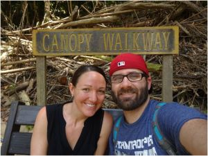 Canopy walkway sign
