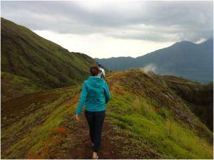 hiking between craters