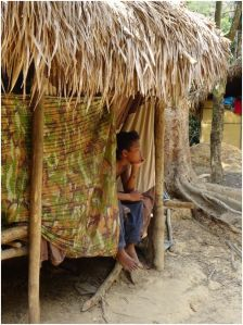 boy in hut