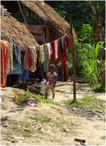 girl in hut