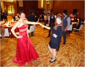me and julia dancing