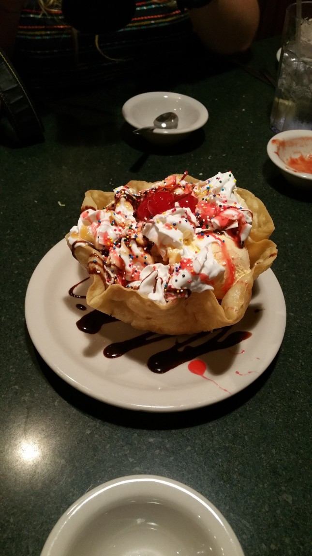 The delicious ice cream dessert we shared at Garcia's.