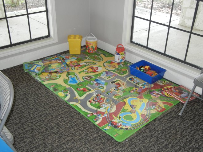 The kids' play area