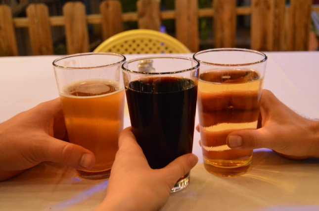 """The middle one is my """"root beer"""""""