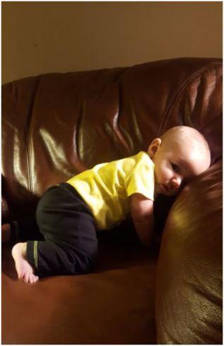 crawling position