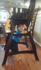 under the high chair