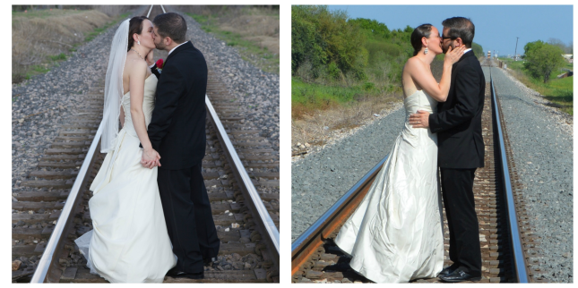kiss on the tracks