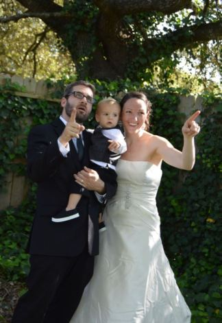 family pointing