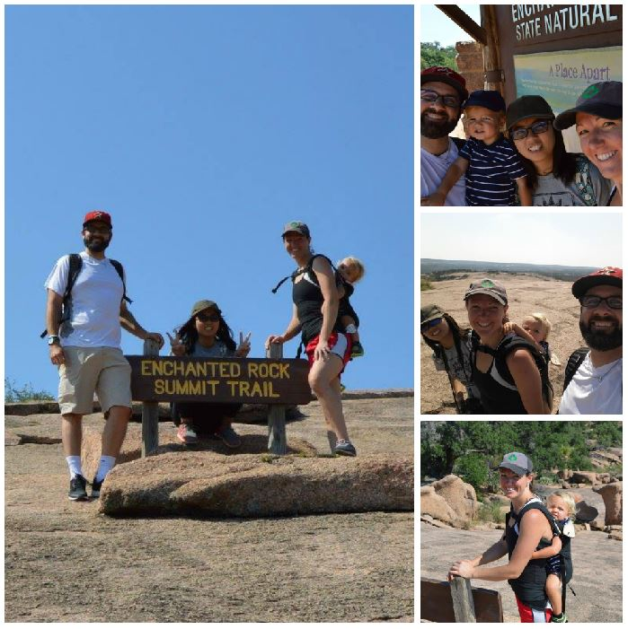enchanted rock collage